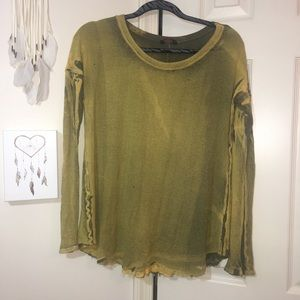 T Party Waffle Knit top M